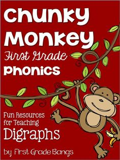 Fun Resources to Teach Digraphs Complete teaching unit with printables, anchor cards, literacy centers, etc.