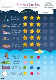 Good Night, Sleep Tight Reward Chart - The Ultimate Sleep Chart for Children (2yrs+):Amazon:Toys & Games