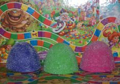 Candy Land Birthday -  Spray paint styrofoam   or by them on Etsy  Set of 3 Jumbo Fake Gumdrops Great Candy by FakeCupcakeCreations, $18.00