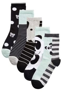 Buy Five Pack Panda Face Ankle Socks from the Next UK online shop