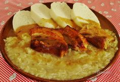 Šenkérska kapusta • recept • bonvivani.sk Slovak Recipes, Czech Recipes, Ethnic Recipes, Ham, Cabbage, Good Food, Pork, Veggies, Food And Drink