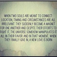 When two souls are meant to connect...