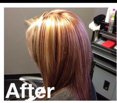 My hair from Lamont at salon wet in Mount Airy. Blonde and red highlights with red underneath. LOVE it!