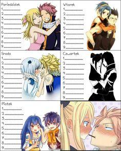 Plan Lekcji - Anime - Fary Tail