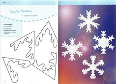 Sweet Home: paper snowflakes. Natural Christmas, Beautiful Christmas, Christmas And New Year, Christmas Time, Christmas Crafts, Christmas Decorations, Paper Snowflakes, Christmas Snowflakes, Christmas Wrapping