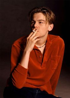 Leonardo DiCaprio, smoking hot. Pun intended.