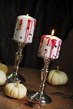 Haz unas terroríficas velas torturadas para Halloween ~ lodijoella
