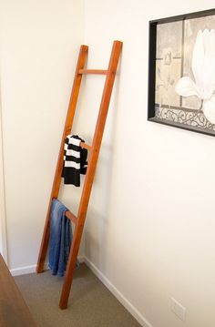Looking for a nice easy solution for keeping the clothes off the floor? Here is a simple DIY project that will cost under $40 and take a few hours. This neat little DIY Ladder is a simple rack that you can lean against the wall and hang your clothes on that would usually be thrown …