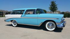 1956 Chevrolet Nomad 265 CI, Automatic presented as lot at Dallas, TX Vintage Cars, Antique Cars, Chevy Nomad, Automatic Cars, Panel Truck, Old School Cars, Classic Chevrolet, Old Classic Cars, Us Cars