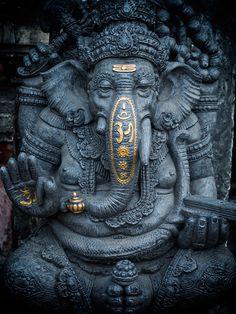 statue of ganesha in Kuta Bali, indonesia Arte Ganesha, Jai Ganesh, Ganesh Lord, Ganesh Statue, Shree Ganesh, Lord Shiva, Kuta Bali, Ganesha Tattoo Lotus, Tattoo Ideas
