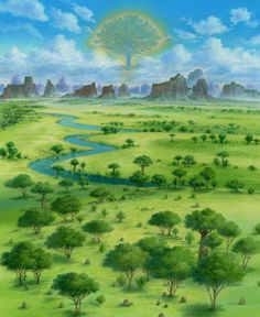 Windy Plains Environmental Concept Art - Etrian Odyssey 4 : Legends of the Titan (3DS)