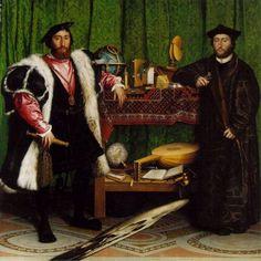Titel: De ambassadeurs Kunstenaar: Hans Holbein de Jonge Datum: 1533 Materiaal: Olieverf op doek Museum: National Gallery, Londen Stroming: Renaissance
