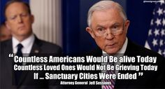 """Jeff Sessions """"Countless Americans Would Be Alive Today If Sanctuary Cities Were Ended"""" http://theamericanfirst.com/jeff-sessions-countless-americans-would-be-alive-today-if-sanctuary-cities-were-ended/?utm_campaign=crowdfire&utm_content=crowdfire&utm_medium=social&utm_source=pinterest"""