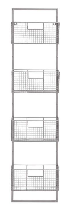 Metal Wire Mesh Wall Magazine Rack