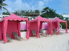 Pink Beach Cabanas - perfect for a PINK summer party