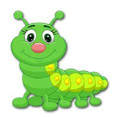 Cute Green Caterpillar Cartoon Vector Image On VectorStock