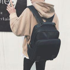 872674875b Boys shoulder bag junior high school college students bag men fashion trend  computer backpack Japan and South Korea leisure travel bag