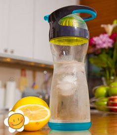 Wherever Water Bottle - BPA Free container for lemon infused water on the go!
