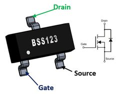 Logic Level N-Channel Mosfet Electronics Mini Projects, Computer Projects, Hobby Electronics, Electronics Basics, Electronics Components, Electrical Engineering Books, Electrical Projects, Electronic Engineering, Electrical Symbols
