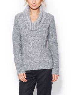 Wool Cowlneck Sweater