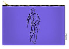 Carry-all Pouch featuring the digital art Cuban Gentlemen by Francesca Mackenney