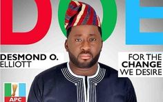 Desmond Elliot Wins APC Primaries for Lagos House of Assembly, As Kenny Saint Brown Looses  ...
