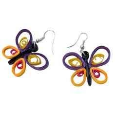Multi Coloured butterfly hangings - light weight paper jewellery