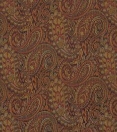 Upholstery Fabric-Robert Allen Tamil Paisley-Mosaic