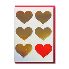 Heart Cut and Foil Card  £2.99  A beautiful greeting card, left blank inside for you to personalise with your prose!