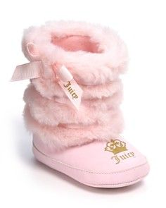 5cf584bdfa Juicy Couture Pink and fuzzy Juicy baby boots!