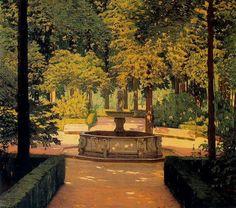Jardín con surtidor (1897) Santiago Rusiñol