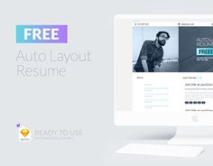 """Check out new work on my @Behance portfolio: """"Free Auto Layout Resume"""" http://be.net/gallery/59881147/Free-Auto-Layout-Resume"""