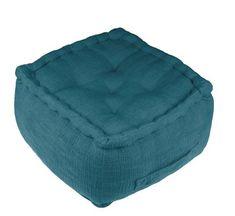Pouf bleu canard : les plus beaux modèles Pouf Bleu, Sofa Ideas, Beanie, Square Ottoman, Round Ottoman, Blue Velvet, Blue Fabric, Beautiful Models, Beanies