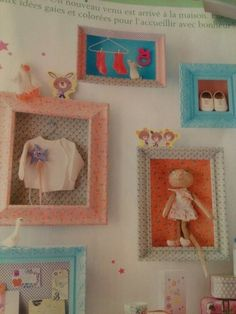 From marie claire idees march 2012: beauriful frames for mementos