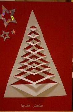 """Kiireistä on ollut mutta vihdoin ehdin tekemään ensimmäisiä jouluaskarteluja. Ja ensin kauniit jouluiset laulunsanat: """"Piparin tuoksua, to... Christmas Card Crafts, Christmas Cards To Make, Christmas Art, Christmas Themes, Holiday Cards, Christmas Decorations, Christmas Ornaments, Paper Snowflake Designs, Paper Ornaments"""