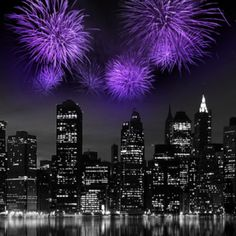 Purple fireworks❤