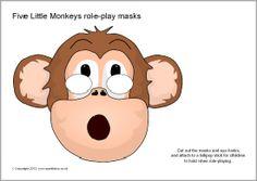 Five Little Monkeys role-play masks (SB8374) - SparkleBox