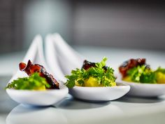 """Caramelized #octopus on top of Santorini """"fava"""" purée by #ARIAFineCatering"""