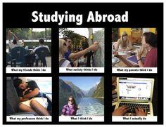 #Studyingabroad What my mom thinks I do, What My friends think I do, What I think I Do. #Meme #Students #jokes