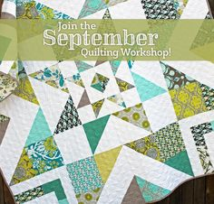 September Quilting Workshop  with Amy Gibson - #quiltkit #fabric