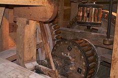 Grist mill interior room Mount vernon - Google Search