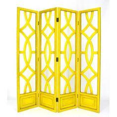Yellow Charleston Screen Wayborn Furniture Screens & Panels Screens & Room Dividers Accent