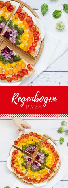 Regenbogen-Pizza