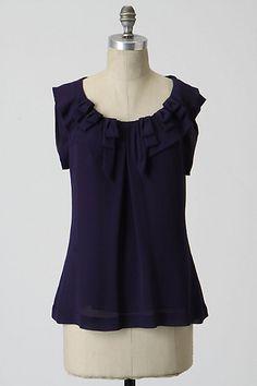 6346f12de188b4 Bow Un-Tied Blouse  anthropologie  198 silk blouse by Leifsdottir size 4  Tie Blouse