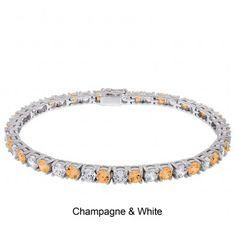 Champagne and White Morgan bracelet from www.diamondnexus.com #sale