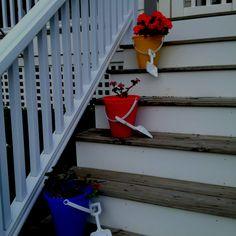 Front porch flower pot ideas.