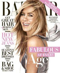 Jennifer Aniston by Camilla Åkrans for Harper's Bazaar US April 2016 cover - Saint Laurent