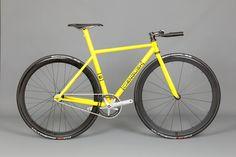Yellow - Christine's track bike built by Rob English| English Cycles