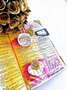 Bible Journaling : Proverbs 4:4-14   Bonita Rose