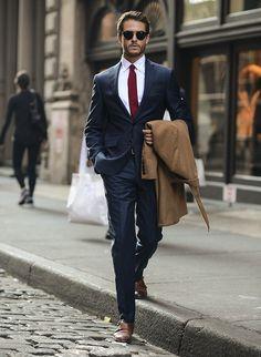 ネイビースーツ着こなし,ニットタイ Suit Fashion, Mens Fashion, Business, Suits, Style, Male Fashion, Swag, Man Fashion, Men Fashion